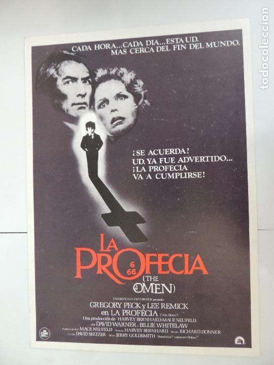 LA PROFECIA - GUIA PUBLICITARIA ORIGINAL - THE OMEN GREGORY PECK RICHARD DONNER (Cine - Guías Publicitarias de Películas )