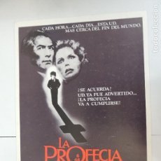 Cine: LA PROFECIA - GUIA PUBLICITARIA ORIGINAL - THE OMEN GREGORY PECK RICHARD DONNER. Lote 127911287