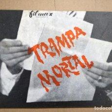 Cine: GUIA CINE, FILMAX , TRAMPA MORTAL , ORIGINAL. Lote 128027635