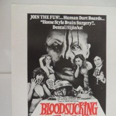 Cine: BLOODSUCKING FREAKS - GUIA PUBLICITARIA INGLES - JOEL M. REED THE INCREDIBLE TORTURE SHOW. Lote 128703987