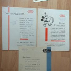 Cine: E-LISTAS DE MATERIAL DE UNITED ARTISTIS TEMPORADA 1932-33 1933-34 1934-35. Lote 129717395