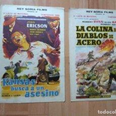Cine: E-LISTAS DE MATERIAL REY SORIA FILMS TEMPORADA 1962. Lote 130177807