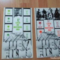 Cinéma: E-LISTAS DE MATERIAL NUEVA FILMS TEMPORADA 1985. Lote 130178031