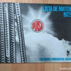 Cine: E-LISTAS DE MATERIAL DIASA FILMS 1972-73. Lote 130505366