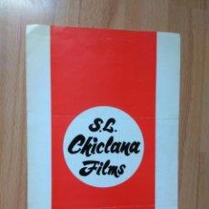 Cine: E-LISTAS DE MATERIAL CHICLANA FILMS 1971-72. Lote 130507382