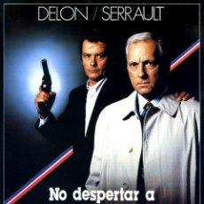 Cine: NO DESPERTAR A UN POLICIA QUE DUERME (GUÍA ORIGINAL SIMPLE DE SU ESTRENO EN ESPAÑA) ALAIN DELON. Lote 130553190