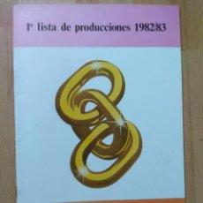 Cine: E-LISTA DE MATERIAL DE PROFILMAR 1982-83. Lote 130706214