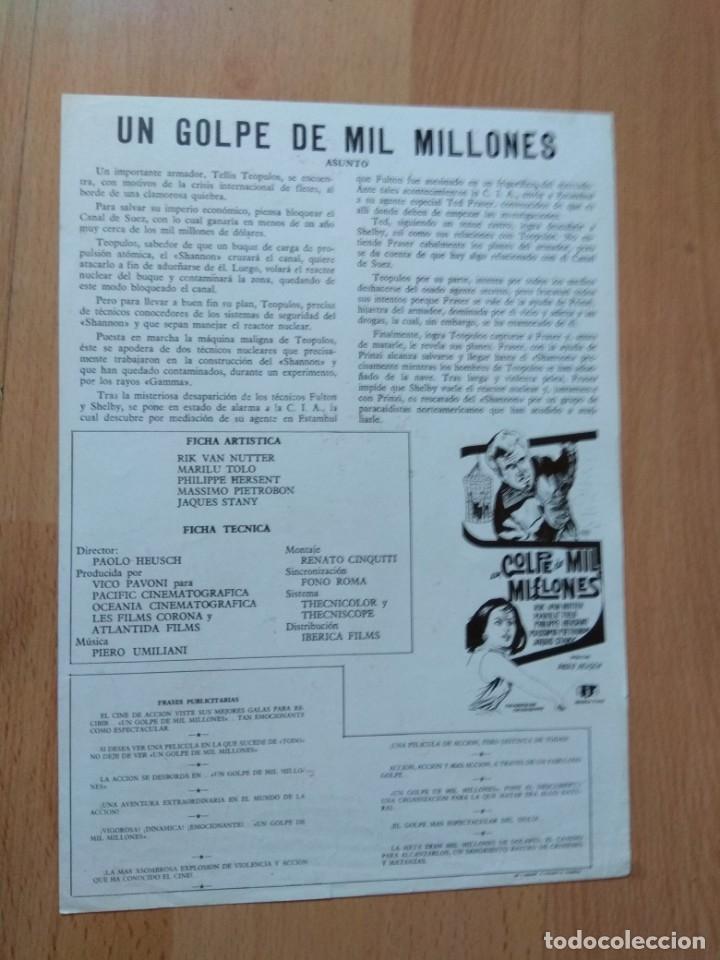 Cine: E--Guía de la película -- UN GOLPE DE MIL MILLONES - Foto 2 - 130779788