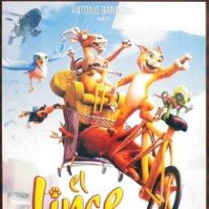 Cine: GUÍA ORIGINAL DE CINE: EL LINCE PERDIDO - SIMPLE IMPRESA A DOS CARAS. Lote 130814524