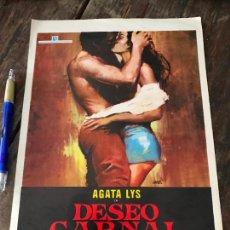 Cine: DESEO CARNAL AGATA LYS CINE EROTICO - GUIA PULICITARIA ORIGINAL DEL ESTRENO. Lote 130915280
