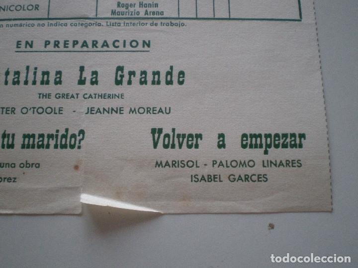 Cine: MARISOL PALOMO LINARES VOLVER A EMPEZAR // WARNER BROS. ESPAÑA SEVEN ARTS LISTA DE MATERIAL 1960s - Foto 2 - 131911301