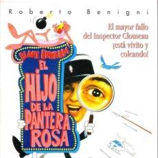 Cine: GUIA ORIGINAL DOBLE (EL HIJO DE LA PANTERA ROSA). Lote 133753402