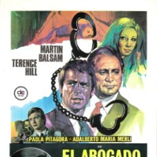 Cine: GUIA ORIGINAL SENCILLA (EL ABOGADO DEFENSOR). Lote 134168106