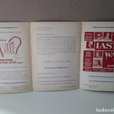 Cine: 1978/1979 TRIPTICO PROGRAMACION DE CINE. Lote 138127508