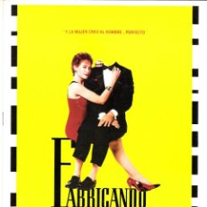 Cine: GUIA ORIGINAL DOBLE (FABRICANDO AL HOMBRE PERFECTO). Lote 134220718