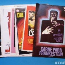 Cine: 18 GUIAS ANTIGUAS DE CINE DIFERENTES, SENCILLAS Y DOBLES, VER FOTOS ADICIONALES. Lote 135196674
