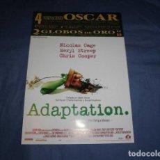 Cinema: ADAPTATION. EL LADRON DE ORQUIDEAS. GUÍA PUBLICITARIA SENCILLA ORIGINAL DE LA PELÍCULA. NUEVO. . Lote 135832694