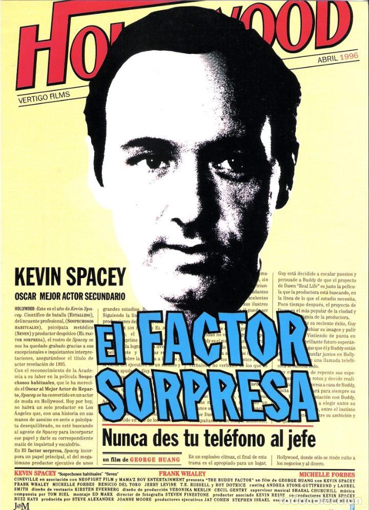 GUIA ORIGINAL SENCILLA (EL FACTOR SORPRESA) (Cine - Guías Publicitarias de Películas )