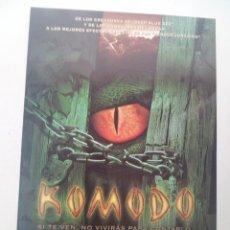 Cine: KOMODO. GUIA PUBLICITARIA DOBLE. ORIGINAL. Lote 136285650