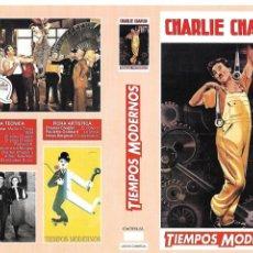 Cine: TIEMPOS MODERNOS. CHARLES CHAPLIN. CARÁTULA PARA VIDEO COPIAS DE TV.. Lote 135733743