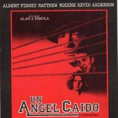 Cine: GUÍA PUBLICITARIA PELÍCULA UN ÁNGEL CAÍDO. Lote 137331918