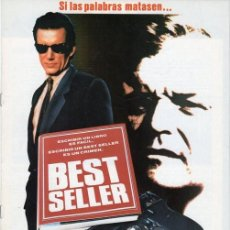 Cine: GUÍA PUBLICITARIA PELÍCULA BEST SELLER. Lote 137332526