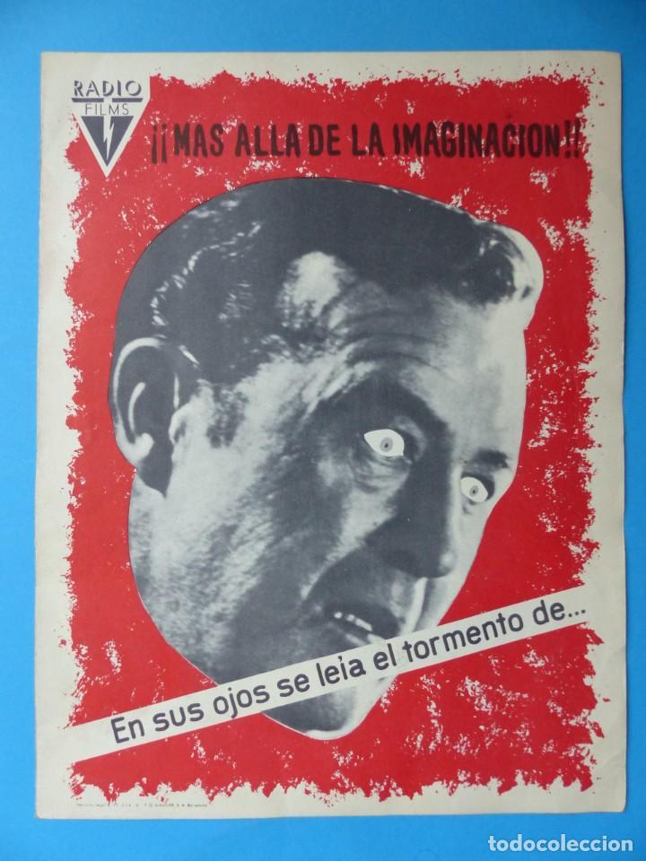 LA OBSESION - RAY MILLAND, HAZEL COURT - GUIA DOBLE DE TERROR - AÑO 1962 (Cine - Guías Publicitarias de Películas )