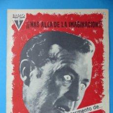 Cine: LA OBSESION - RAY MILLAND, HAZEL COURT - GUIA DOBLE DE TERROR - AÑO 1962. Lote 137403114