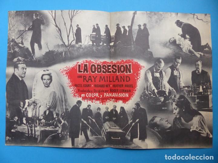 Cine: LA OBSESION - RAY MILLAND, HAZEL COURT - GUIA DOBLE DE TERROR - AÑO 1962 - Foto 4 - 137403114