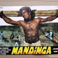 Cine: GUIA PUBLICITARIA DE LA PELICULA MANDINGA.CLASIFICADA S. Lote 138110118