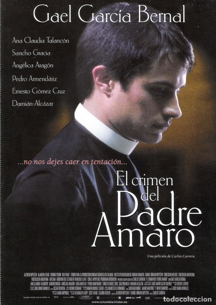 GUIA ORIGINAL SENCILLA (EL CRIMEN DEL PADRE AMARO) (Cine - Guías Publicitarias de Películas )