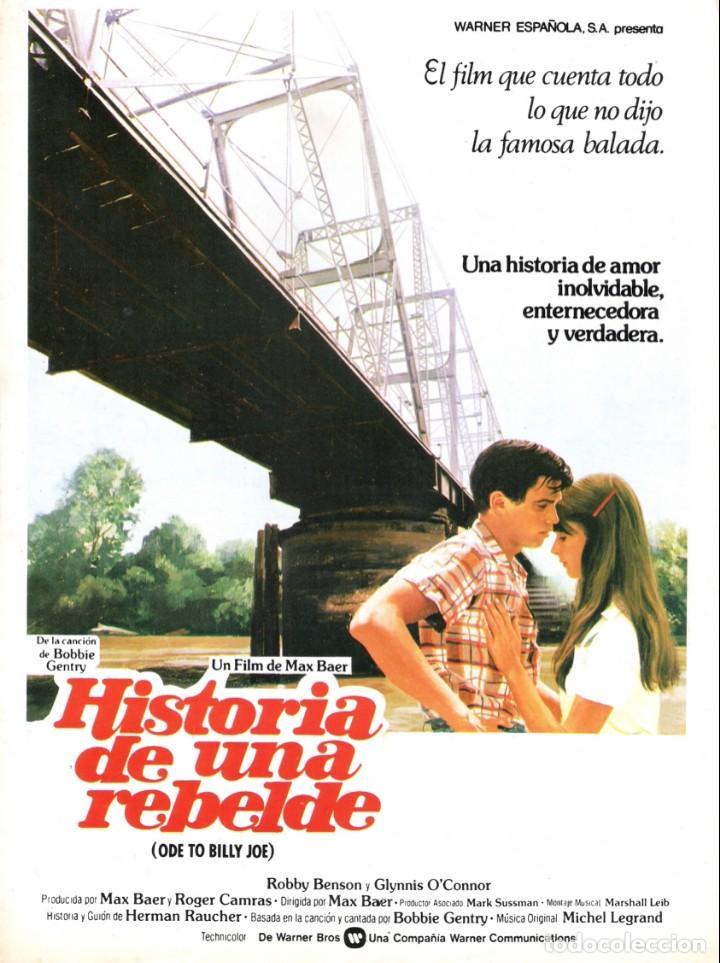 GUIA ORIGINAL SENCILLA (HISTORIA DE UNA REBELDE) (Cine - Guías Publicitarias de Películas )