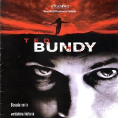Cine: GUIA ORIGINAL DOBLE (TED BUNDY). Lote 139391918