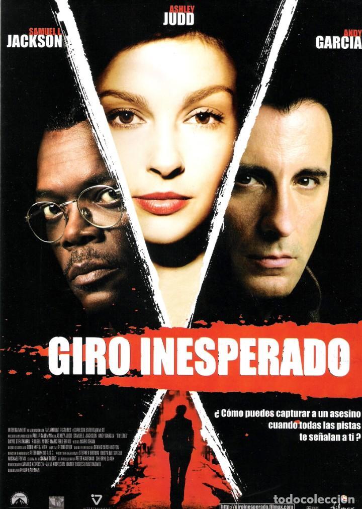 GUIA ORIGINAL DOBLE (GIRO INESPERADO) (Cine - Guías Publicitarias de Películas )