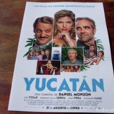 Cine: YUCATAN - LUIS TOSAR, RODRIGO DE LA SERNA, STEPHANIE CAYO, JOAN PERA - GUIA ORIGINAL FOX 2018. Lote 194730913
