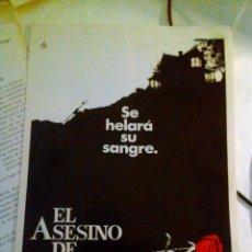 Cine: GUIA PUBLICITARIA - EL ASESINO DE ROSEMARY (1981).. Lote 139981710