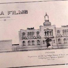 Cine: CINE MUDO - 1916 - MAGNA FILMS - PROYECTO DE SALA DE CINE - BARCELONA. Lote 140288118