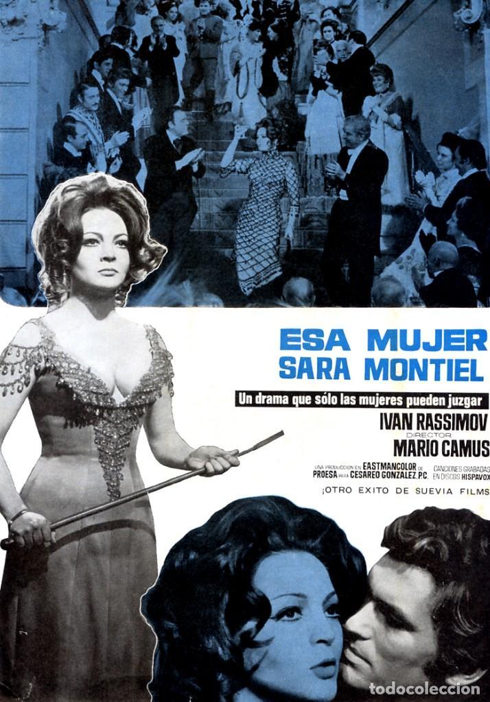 ESA MUJER (GUÍA ORIGINAL SIMPLE DE SU ESTRENO EN ESPAÑA) SARA MONTIEL - IVAN RASSIMOV (Cine - Guías Publicitarias de Películas )