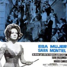 Cine: ESA MUJER (GUÍA ORIGINAL SIMPLE DE SU ESTRENO EN ESPAÑA) SARA MONTIEL - IVAN RASSIMOV. Lote 140601046
