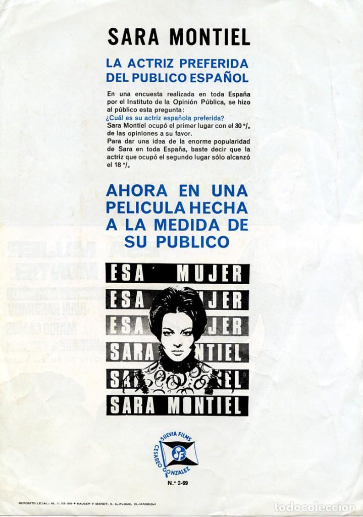 Cine: ESA MUJER (GUÍA ORIGINAL SIMPLE DE SU ESTRENO EN ESPAÑA) SARA MONTIEL - IVAN RASSIMOV - Foto 2 - 140601046
