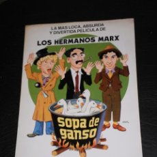 Cine: SOPA DE GANSO , HERMANOS MARX - GUIA PUBLICITARIA DE CINE- ORIGINAL . Lote 140850770
