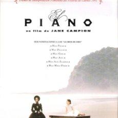 Cine: GUIA ORIGINAL SENCILLA (EL PIANO). Lote 140934898