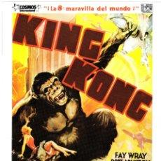 Cine: GUIA ORIGINAL SENCILLA (KING KONG). Lote 140934990