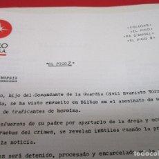 Cine: DOSSIER DE PRENSA, DISTRIBUIDORA, EL PICO 2, ELOY DE LA IGLESIA, FERNANDO GUILLEM, WILLY MONTESINOS. Lote 141454837
