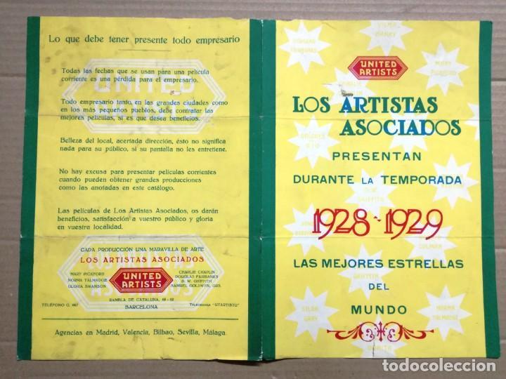 LOS ARTISTAS ASOCIADOS-1928-1929 LAS MEJORES ESTRELLAS DEL MUNDO. (Cine - Guías Publicitarias de Películas )