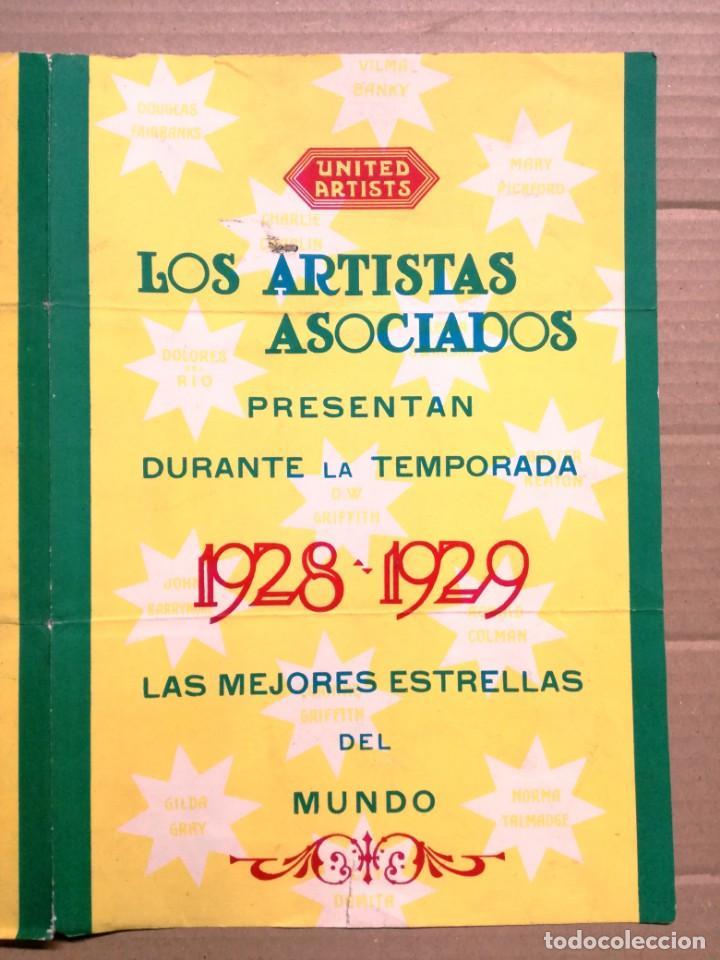 Cine: LOS ARTISTAS ASOCIADOS-1928-1929 LAS MEJORES ESTRELLAS DEL MUNDO. - Foto 2 - 142257010