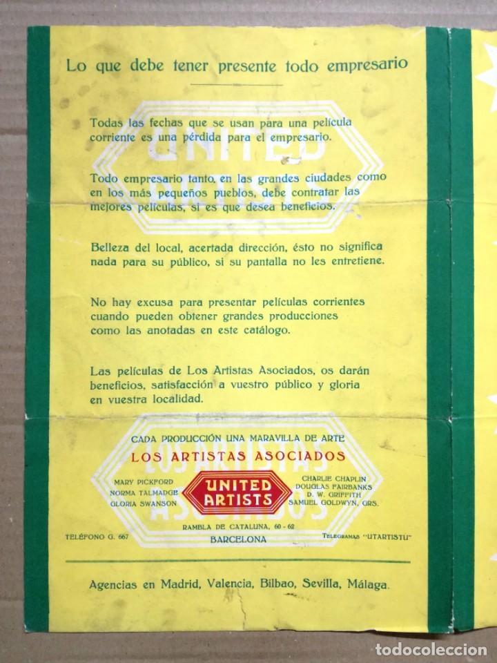 Cine: LOS ARTISTAS ASOCIADOS-1928-1929 LAS MEJORES ESTRELLAS DEL MUNDO. - Foto 3 - 142257010
