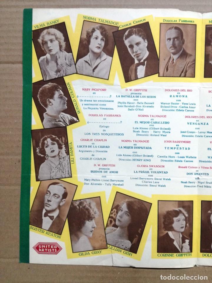 Cine: LOS ARTISTAS ASOCIADOS-1928-1929 LAS MEJORES ESTRELLAS DEL MUNDO. - Foto 5 - 142257010