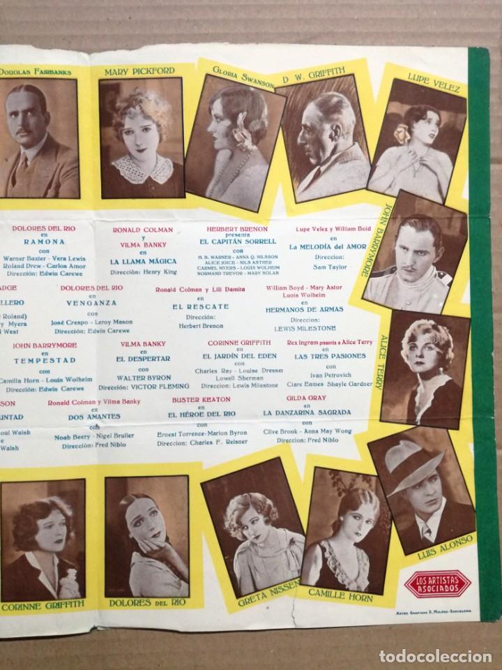 Cine: LOS ARTISTAS ASOCIADOS-1928-1929 LAS MEJORES ESTRELLAS DEL MUNDO. - Foto 6 - 142257010