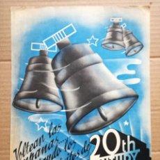 Cine: LISTA DE MATERIAL 20TH CENTURY FOX-AÑO 1940-.QUE PAR DE LOCOS,TURBANTE BLANCO,TU SERAS MI MARIDO.. Lote 142258146